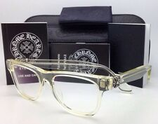 New CHROME HEARTS Eyeglasses HARD WC Clear - Buff Frame w/ Sterling Silver .925
