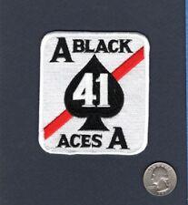 VF-41 BLACK ACES US Navy F-14 Tomcat F-4 Phantom Fighter Squadron Patch