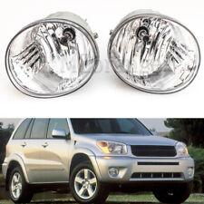 2X For Toyota RAV4 2004-2005 Front Bumper Driving Fog Lamp Light Clear Lens