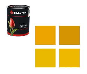 (14,50€/L) Tikkurila Wandfarbe Optiva - 2,75 Liter Farbtöne gelb Markenqualität