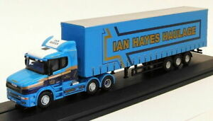 Oxford Diecast 1/76 Scale Model 76TCAB009 - Scania T Cab Curtainside - Ian Hayes