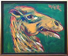 """Camel"" 1977, 50 x 60 cm, F. S. Pfefferkorn *1945 seltenes Werk der Motivserie"