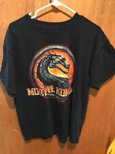 Vintage Mortal Kombat Tee T-Shirt Black Dragon Large I Believe