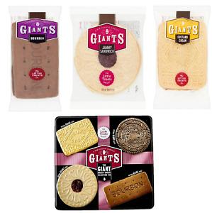 GIANTS Biscuit Sandwich Custard Cream Vanilla Jammy Bourbon