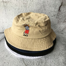 Bucket Hat Golf Bear Logo Cap Men Sport Soccer Tennis Varsity Unisex Outdoor NEW