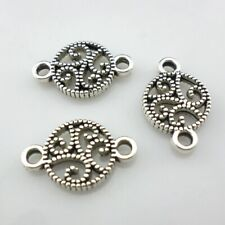 60pcs Tibetan Silver Double Holes Earring/Necklace Connector Bead Making 16*11mm
