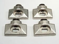 Lot of 4  Used Nickel GRASS 830-53 FACE FRAME HINGE MOUNTING PLATES  OEM
