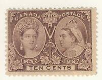 Canada Stamp Scott # 57 10-Cents Diamond Jubilee MH