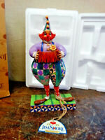 "Jim Shore Heartwood Creek Squeezebox Clown Accordion Figure 4007673 8-1/2"" tall"