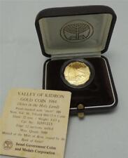 Israel 1984 Holy Land Sites Jerusalem Kidron Valley PR Coin 1/4oz Gold +box +COA