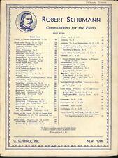 Schumann Fantasiestucke Grillen Whims Piano Solo Sheet Music Schirmer Op 6 No 4