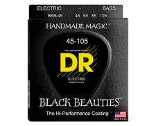 DR Strings BKB-45 Medium Black Beauties K3 Coated Bass Guitar Strings