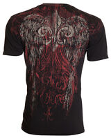 ARCHAIC by AFFLICTION Mens T-Shirt WING Tattoo BLACK Motorcycle Biker $40