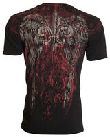 ARCHAIC by AFFLICTION Mens T-Shirt WING Tattoo BLACK Motorcycle Biker UFC $40