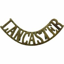VICTORIAN Kings Own Royal Lancaster King's Regiment Shoulder Title Badge - YB56