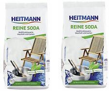 2,99€/kg/ 2x 500g Heitmann Reine Soda kalzinierte Soda Natriumcarbonat Waschsoda