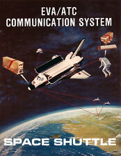 Space Shuttle Mission Communications Concept Giclee Art Print NASA Space 16 x 20