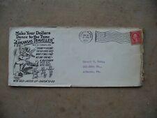 2 Cent Red Washington Stamp on Used 1923 Arkansas Traveller Envelope Camden
