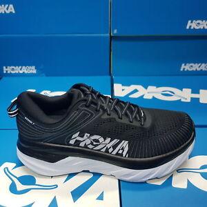 NEW Hoka One One 1110531/BWHT BONDI 7 WIDE (D) Black/White Women's Running Shoes