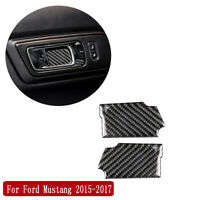 2x For Ford Mustang 2015-2017 Carbon Fiber Interior Door Handle Bowl Cover Trim
