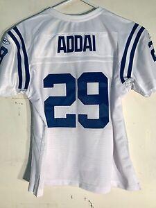 Reebok Women's Premier NFL Jersey Indianapolis Colts Joseph Addai White sz L