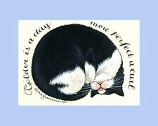 Tuxedo Cat ACEO Colder The Day Print By Irina Garmashova