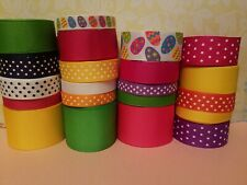 """GROSGRAIN RIBBON SET."""" EASTER EGGS"""" 21YDS ..CRAFTS.. HAIRBOWS AND MORE"""