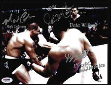 Mark Coleman & Big John McCarthy Pete Williams Signed UFC 17 8x10 Photo PSA/DNA
