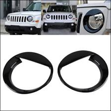 Fit 2011 17 Jeep Patriot Angry Bird Style Front Headlight Lamp Cover Decor Black Fits 2012 Jeep Patriot