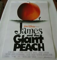 JAMES AND THE GIANT PEACH Original Movie Poster Disney Double Sided 27x40 Rolled