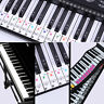 Piano Keyboard Letter Piano Stickers Learning Removable For 37/49/88/61/54 Keys