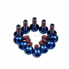 12x Honda CBR600RR 2011 Blue Titanium Front Disc Rotor Bolt With Thread-lock