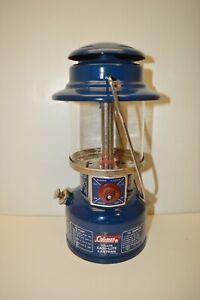 Vintage Coleman Camping Lantern Model 321 Blue Deluxe Easi-Lite 2/73