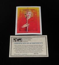 1995, ST VINCENT, MARILYN MONROE, LIMITED EDITION, $6 SOUVENIR SHEET, W/COA