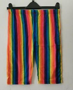 LADIES Rainbow cycling shorts size M/L
