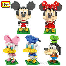 Lot of 5 Loz Diamond Block Nano Block Mickey Mouse Minny Donald Duck Gifts