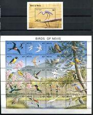 Nevis 1991 Vögel Birds Uccelli Oiseaux  596-615 + Block 33 Postfrisch MNH