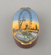 Crummles Enamels - The London Eye Large Oval Box