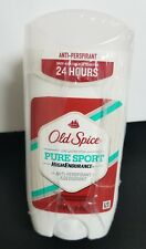 3 × Old Spice High Endurance Deodorant Solid, Pure Sport 3oz each