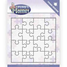 Stanzschablone großes Puzzleteil Ausschnitt 6x6cm,Puzzle 13x13 cm