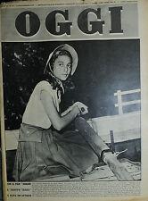 """OGGI N°37/14/SET/1950* CON IL FILM """" DOMANI E' TROPPO TARDI """" E' NATA UN'ATTRICE"""