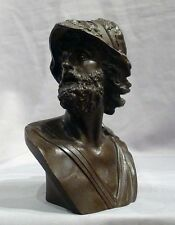 BELLA antica patiated Bronzo Busto di AJAX, GRAND TOUR