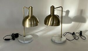 A Pair of Hill Interiors Industrial Style Lamps