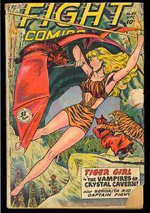 Fight Comics #59 Unrestored Golden Age Fiction House Jungle 1948 GD-