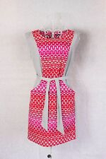 "Size 8 ""Marks & Spencer"" Pink & Red Sleeveless Ladies Dress w Tie Waist"