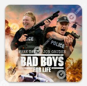 Las Vegas Raiders MAGNET - Mark Davis Jon Gruden Chuckie Bad Boys Oakland NFL