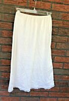 Vintage Ivory Half Slip Small Nylon Lace Trim A-Line Elastic Waist Made in USA