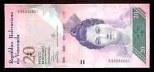 "World Paper Money - Venezuela 20 Bolivares 2013 ""New Series"" V8 @ Crisp UNC"