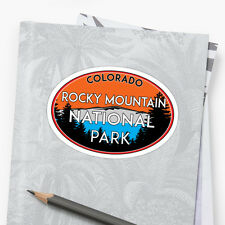 Rocky Mountain National Park Sticker Decal Camper Bike Hike Climb Colorado Oval