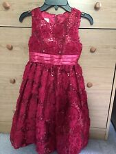 American Princess Red Satin & Sequin Dress- Girl Size 7